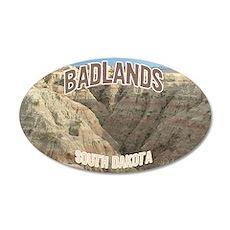 Badlands National Park 20x12 Oval Wall Peel