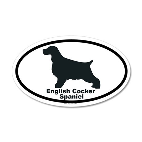 ENGLISH COCKER SPANIEL 35x21 Oval Wall Peel