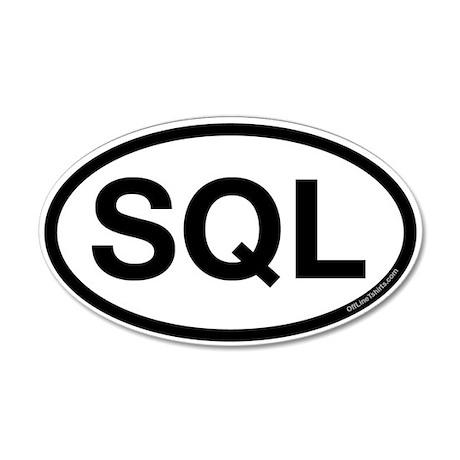 SQL 35x21 Oval Wall Peel