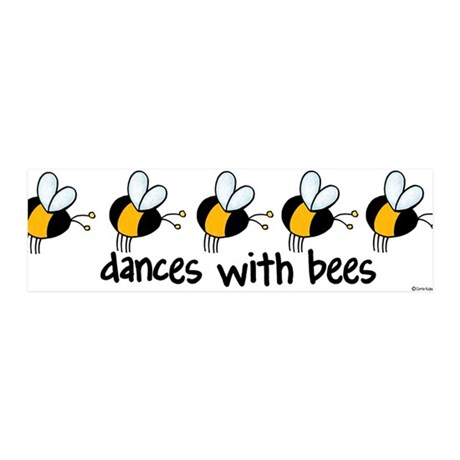 dances with bees 36x11 Wall Peel