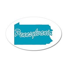 State Pennsylvania 20x12 Oval Wall Peel
