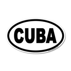 CUBA Euro 20x12 Oval Wall Peel