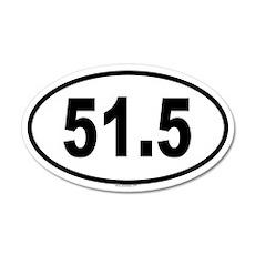 51.5 20x12 Oval Wall Peel