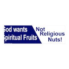 36x11 Wall Peel - God wants spiritual fruits NOT r