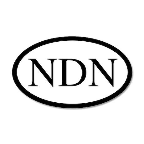 NDN Oval Design 20x12 Oval Wall Peel