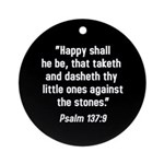 Psalm 137:9 Ornament (Round)