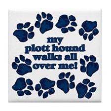 Plott Hound WALKS Tile Coaster