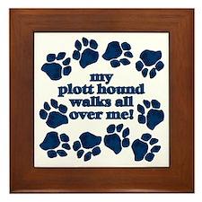 Plott Hound WALKS Framed Tile