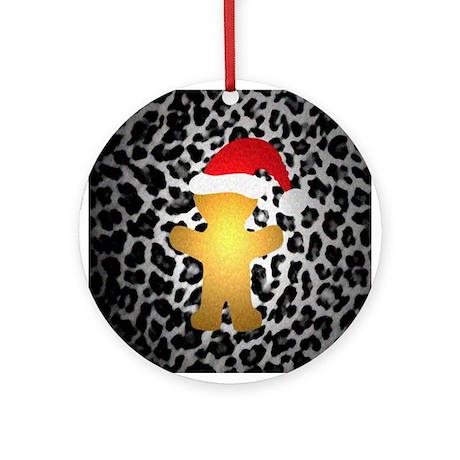 Gingerbread Santa Gone Wild Ornament (Round)