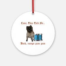 Little Drummer Cairn Ornament (Round)
