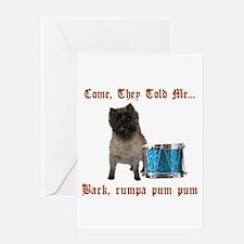 Little Drummer Cairn Greeting Card