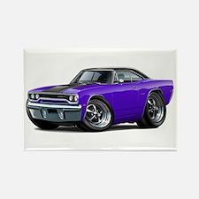 1970 Roadrunner Purple-Black Car Rectangle Magnet