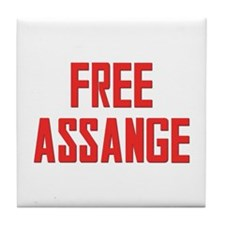 Free Assange Tile Coaster