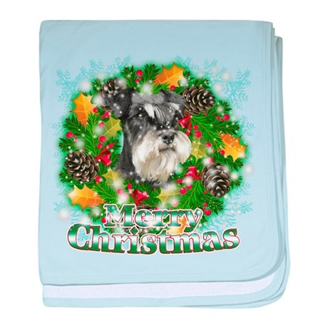 Merry Christmas Miniature Sch baby blanket
