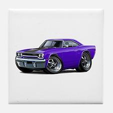 1970 Roadrunner Purple-Black Car Tile Coaster