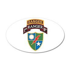 1st Ranger Bn with Ranger Tab 20x12 Oval Wall Peel