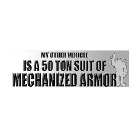 My Other Vehicle Is a Mech 36x11 Wall Peel