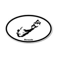 Bermuda Outline 20x12 Oval Wall Peel