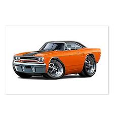1970 Roadrunner Orange-Black Car Postcards (Packag