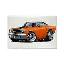 1970 Roadrunner Orange-Black Car Rectangle Magnet