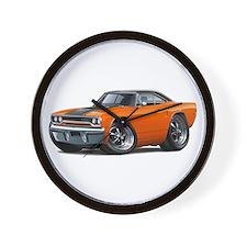 1970 Roadrunner Orange-Black Car Wall Clock