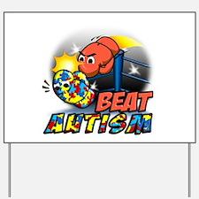 Beat Autism Yard Sign