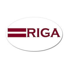 Riga, Latvia 20x12 Oval Wall Peel