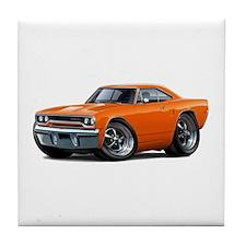 1970 Roadrunner Orange Car Tile Coaster