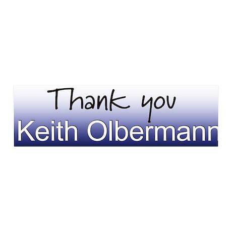 Thank you Keith Olbermann 36x11 Wall Peel