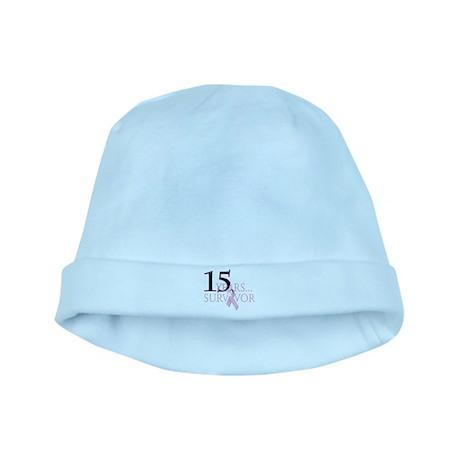 15 Year Breast Cancer Survivo baby hat
