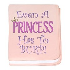 Even A Princess Burps baby blanket