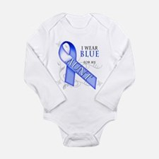 I Wear Blue for my Aunt Long Sleeve Infant Bodysui
