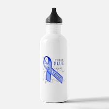 I Wear Blue for my Grandpa Water Bottle