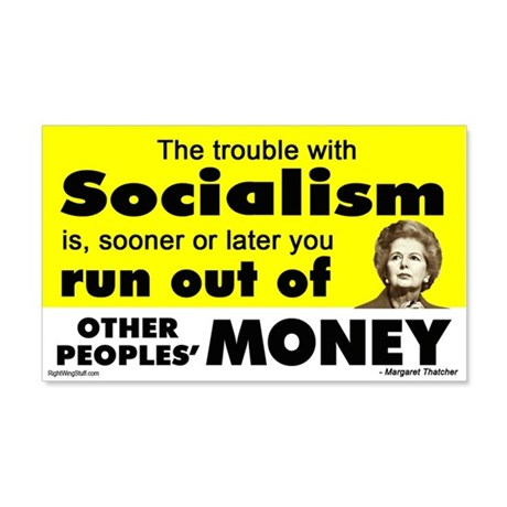 Thatcher Socialism Quote 20x12 Wall Peel