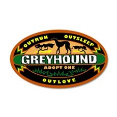 """Greyhound: Adopt One"" Sticker (green)"