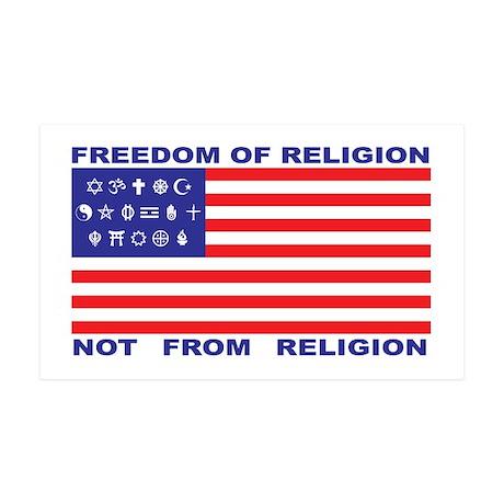 Freedom of Religion 35x21 Wall Peel