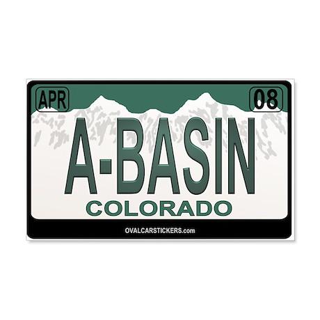 A-Basin Plate 20x12 Wall Peel
