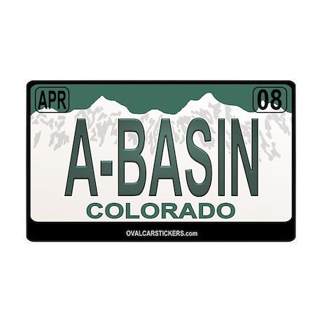 A-Basin Plate 35x21 Wall Peel