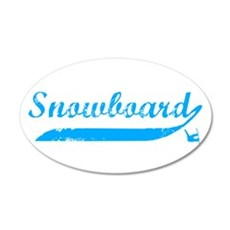 Snowboard 20x12 Oval Wall Peel