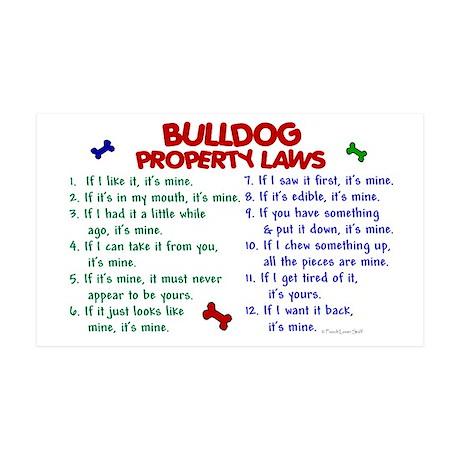 Bulldog Property Laws 2 35x21 Wall Peel