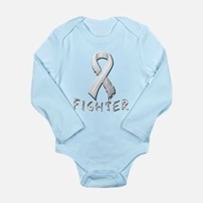Lung Cancer Fighter Long Sleeve Infant Bodysuit