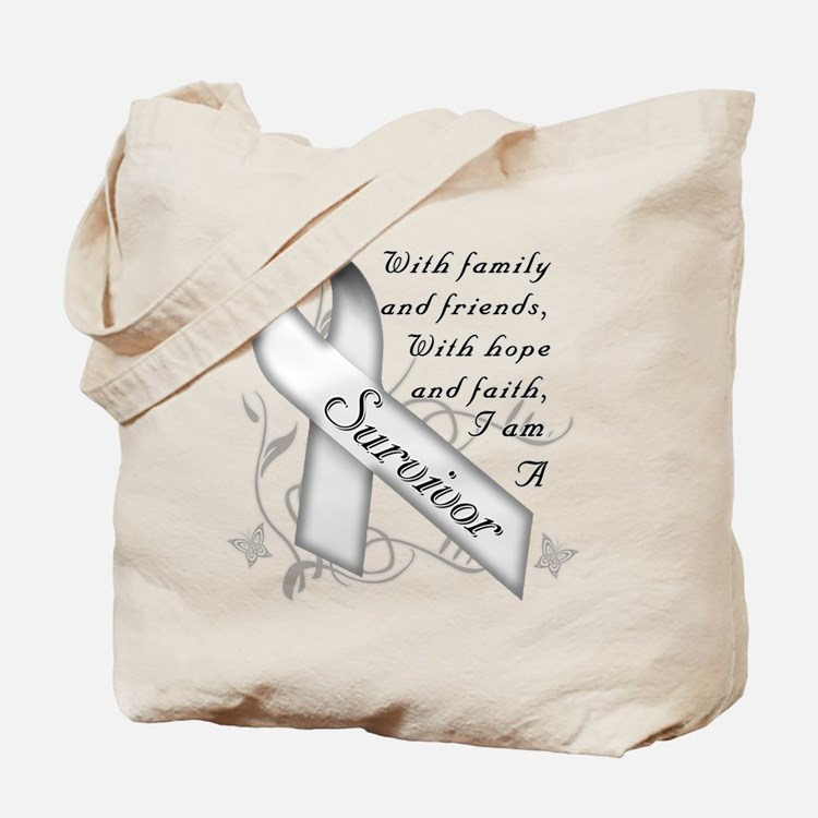 Lung Cancer Survivor Tote Bag