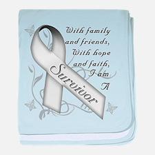 Lung Cancer Survivor baby blanket