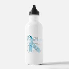 I Wear Light Blue for my Son Water Bottle