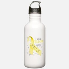 I Wear Yellow for my Uncle Water Bottle