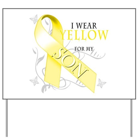 I Wear Yellow for my Son Yard Sign