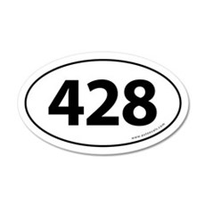 428 Auto Bumper 20x12 Oval Wall Peel -White