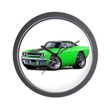 1970 Roadrunner Green-Black Car Wall Clock
