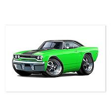 1970 Roadrunner Green-Black Car Postcards (Package