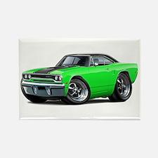 1970 Roadrunner Green-Black Car Rectangle Magnet